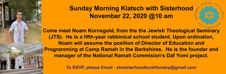 Sunday Klatsch 11 22 Banner