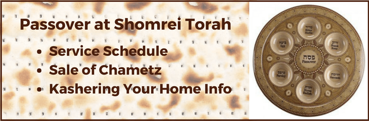 Passover Schedule and Information 1